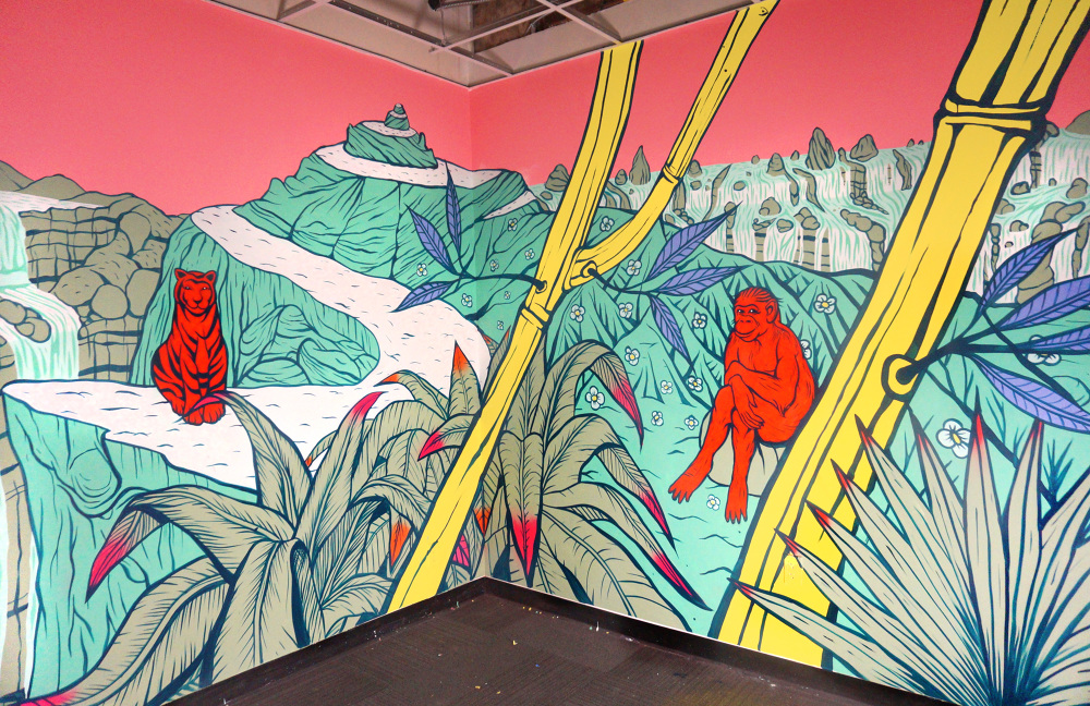 3 Wall Indoor Mural Collaboration With Aaron Glasson, Painted With House  Paint.